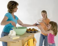 Baking Muffins Royalty Free Stock Photo