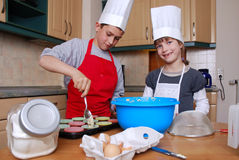 Baking muffins Stock Photos