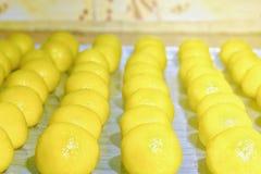 Baking nastar cakes stock image
