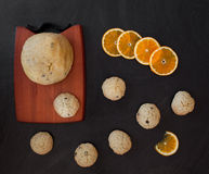 Baking Orange Chocolate Chips Royalty Free Stock Photos
