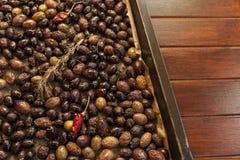 Baking organic olives Royalty Free Stock Photo