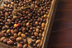 Baking organic olives Royalty Free Stock Photography