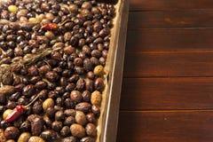 Baking organic olives Stock Photos