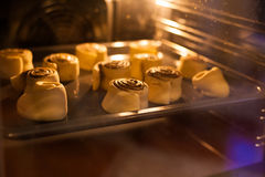 Baking in the oven Royalty Free Stock Images