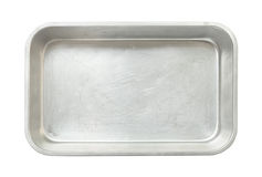 Baking pan. Metal baking pan isolated on white background Royalty Free Stock Photography