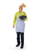 Baking pancakes Stock Photography