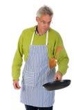 Baking pancakes Royalty Free Stock Image