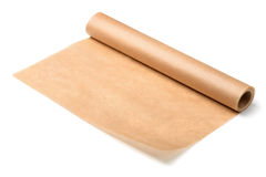 Baking parchment paper. Roll of baking parchment paper isolated on white Royalty Free Stock Images