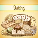 Baking pastry background template Stock Photos