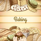 Baking pastry poster Stock Photography