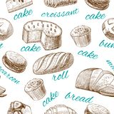Baking pastry seamless wallpaper Royalty Free Stock Photography