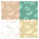 Baking patterns set Royalty Free Stock Images