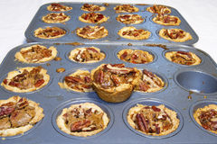 Baking Pecan Tarts Royalty Free Stock Photo