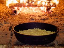 Baking Pie In Traditional Oven Royalty Free Stock Photos