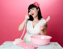 Baking Pinup Girl Royalty Free Stock Image