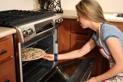 Baking a Pizza Stock Photos