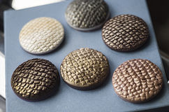 Baking polymer clay charms Stock Images
