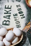 Baking process utensils Stock Images