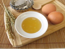 Baking with rice syrup Stock Photo