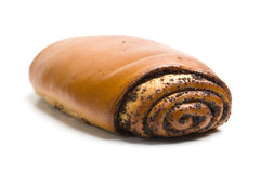 Baking roll with poppy seeds Stock Image