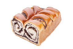 Baking roll with poppy seeds Royalty Free Stock Photo