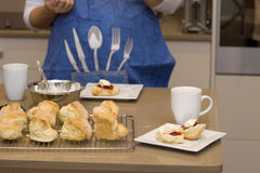 Baking Scones Royalty Free Stock Photography