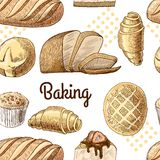 Baking seamless pattern Stock Image