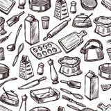Baking Seamless Pattern royalty free illustration