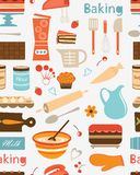 Baking seamless pattern Stock Photos