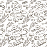 Baking  seamless pattern Royalty Free Stock Photos
