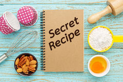 Baking secret recipes Royalty Free Stock Image