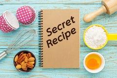 Baking secret recipes Royalty Free Stock Image