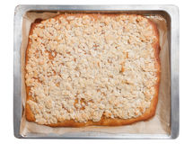 Baking sheet cake with almonds Stock Photo