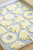 Baking sheet with cookies Stock Images