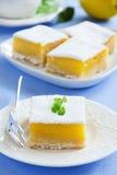 Baking Sheet with Homemade Citrus Fruit Lemon Bars Stock Images