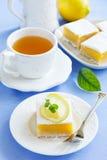 Baking Sheet with Homemade Citrus Fruit Lemon Bars Stock Image