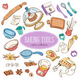 Baking sketch tools Stock Image