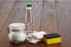Baking soda. Cleaning agent baking soda with vinegar Royalty Free Stock Image