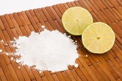 Baking soda with lemon slices Stock Images