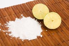 Baking soda with lemon slices Royalty Free Stock Image