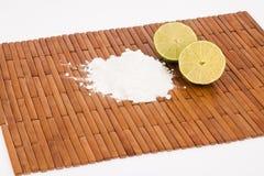 Baking soda with lemon slices Royalty Free Stock Photo