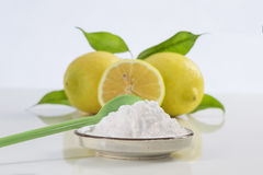 Baking soda sodium bicarbonate Medicinal and household Uses Stock Images