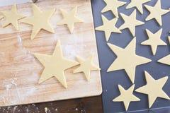 Baking Star Cookies Stock Photos
