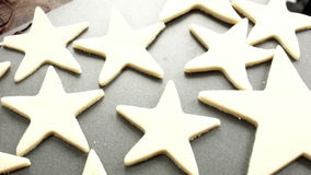 Baking Star Shaped Cookies Scene stock video