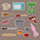 Baking stickers Royalty Free Stock Images