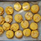 Baking sweet potato scones Stock Photo