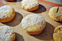 Baking sweet potato scones Stock Photos