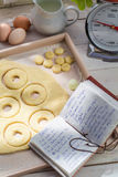 Baking sweet and tasty donuts Royalty Free Stock Photography