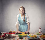 Baking sweets stock photography