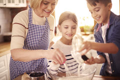 Baking time Stock Images